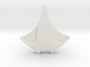 simple manta ray  in White Natural Versatile Plastic