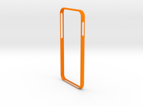 Bumper for iPhone 8 in Orange Processed Versatile Plastic