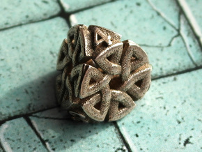 Celtic D4 Alternative in Polished Bronzed Silver Steel