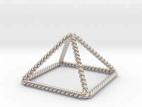 Twisted Giza Pyramid in Platinum