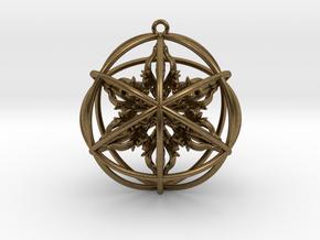 """Octuple Dorje Pendant 2"""" in Natural Bronze"""