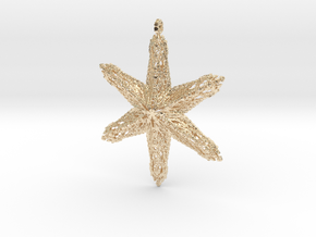 Snowflake B in 14k Gold Plated Brass