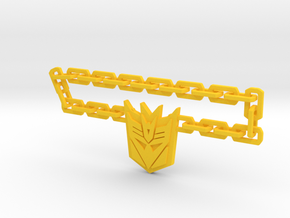 Nitro Zeus Chain, Con Symbol in Yellow Processed Versatile Plastic: Medium