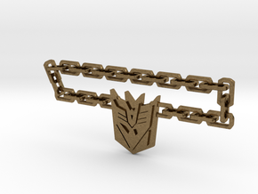 Nitro Zeus Chain, Con Symbol in Natural Bronze (Interlocking Parts): Medium
