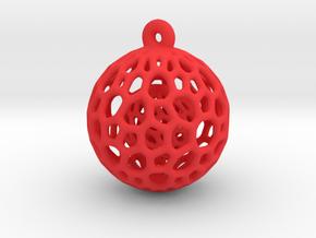 Christmas Decoration in Red Processed Versatile Plastic