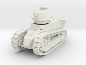 PV06D Renault FT Char Mitr (Girod turret)(1/43) in White Natural Versatile Plastic