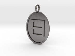 Eta Medallion in Polished Nickel Steel