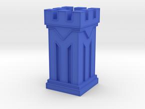 Plastic Rook in Blue Processed Versatile Plastic: Medium