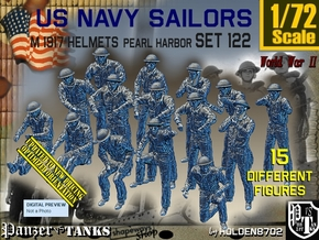1/72 USN Pearl Harbor Set 122 in Smooth Fine Detail Plastic