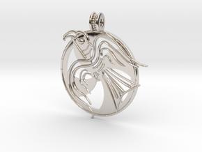 Norrelag pendant in Rhodium Plated Brass