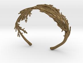 Coral Cuff in Natural Bronze