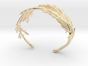 Coral Cuff in 14k Gold Plated Brass