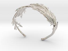 Coral Cuff in Rhodium Plated Brass
