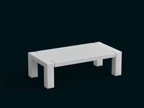 1:10 Scale Model - Table 01 in White Natural Versatile Plastic