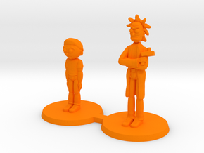 Mick and Rory Free Download in Orange Processed Versatile Plastic