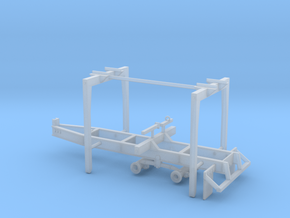 1/87th Pitts Type 22' Pup Log Trailer in Smooth Fine Detail Plastic