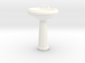 'Finer Fare' Pedestal Sink 1:12 Dollhouse in White Processed Versatile Plastic