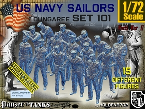 1/72 USN Dungaree Set101 in Smooth Fine Detail Plastic