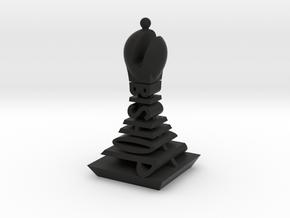 Modern Chess Set - BISHOP in Black Natural Versatile Plastic