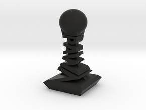 Modern Chess Set - PAWN in Black Natural Versatile Plastic