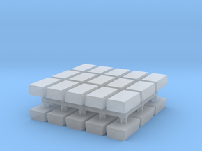1/87 Scale Shot Blocks in Smooth Fine Detail Plastic