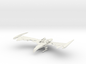 Romulan Winged Defender Class  VI WarBird in White Natural Versatile Plastic