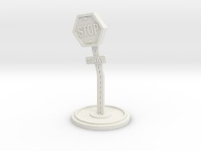 Stop Sign object in White Natural Versatile Plastic
