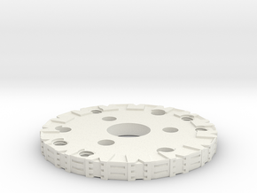 Detailed Chassis Disk in White Natural Versatile Plastic
