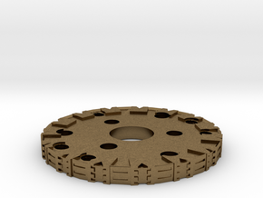 Detailed Chassis Disk in Natural Bronze