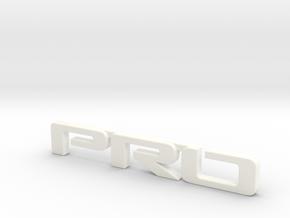 Pro emblem v01 in White Processed Versatile Plastic