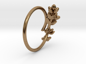 Lavender Ring in Natural Brass: 5 / 49