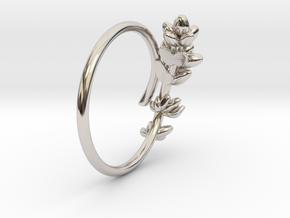 Lavender Ring in Rhodium Plated Brass: 5 / 49