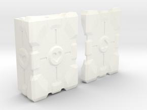 companion cube mod box ( Vape ) in White Processed Versatile Plastic