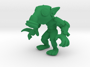 Gas Mask Goblin Trencher in Green Processed Versatile Plastic