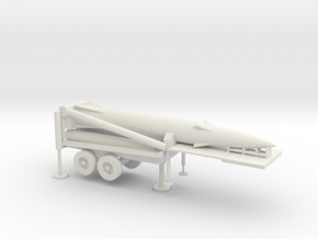 1/87 Scale Pershing II Missile Erector in White Natural Versatile Plastic