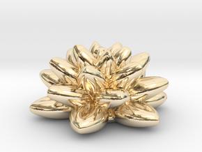 Fractal Flower 06 Redux in 14k Gold Plated Brass