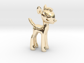 "My Little OC: Faun 1.5"" in 14K Yellow Gold"