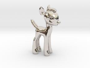 "My Little OC: Faun 2"" in Rhodium Plated Brass"