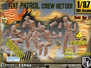 1/87 Rat Patrol Crew Set001 in Smooth Fine Detail Plastic