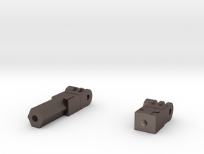 GoPro-Fusion-Tripod-Mount-1_4-20-screw-thread in Polished Bronzed Silver Steel