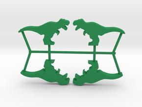 Dino Meeple, T-Rex 4-set in Green Processed Versatile Plastic