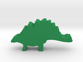 Dino Meeple, Stegosaurus in Green Strong & Flexible Polished