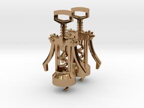 Corkscrew Earrings in Polished Brass