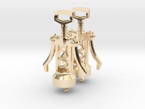 Corkscrew Earrings in 14K Yellow Gold