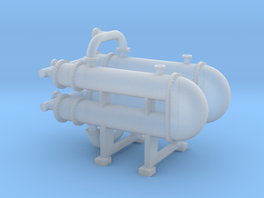 HO Scale Heat Exchanger #3 Double in Smooth Fine Detail Plastic