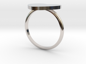 Thin Heart Ring  in Rhodium Plated Brass: 6 / 51.5