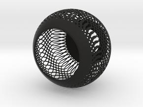 Small LampShade in Black Natural Versatile Plastic