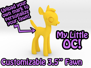 "My Little OC: Faun 3.5"" in Yellow Strong & Flexible Polished"
