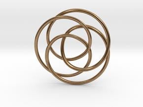 Rose Möbius in Natural Brass