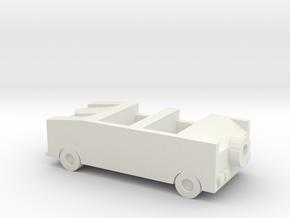 Hampton Combo Car in White Natural Versatile Plastic